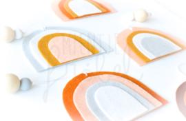 Vilthanger regenboog Peach/Mosterd/White/Grijs