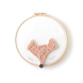Wandhanger Fox Pink ø15cm