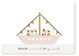 """Ansichtkaart Sinterklaas """"Welkom Sint & Piet"""""""