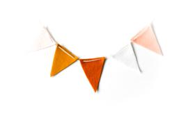 Vlaggenlijn Nude/Mosterd/Terra/Wit/Peach