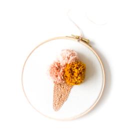 Wandhanger Ice Cream Peach/Framboos/Mango  ø15cm