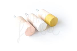 Wandhaken Dippies - Peach Pink/Misty Mustard/Wonderful White
