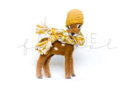 Bambi Bruin Okergeel / Lichtroze / Lichtmint