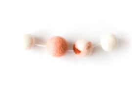 DOT.| Viltslinger white/peach + special edition terra/peach/wit