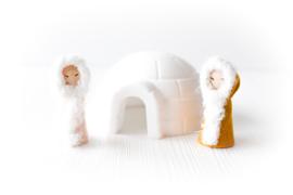 Eskimo's met iglo