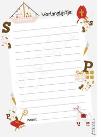 Aftelkalender/Verlanglijstje Sinterklaas 2021
