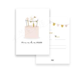 Invitation A6 | It's Cake o'clock (Dutch)