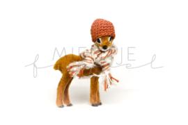Bambi Bruin Roest/Wit fluffy en grijs