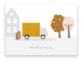 """Ansichtkaart """"New Home"""""""