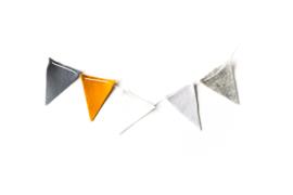 Vlaggenlijn Donkergrijs/Mosterd/Wit/Lichtgrijs/Grijs Melee