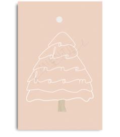 "Cadeaukaartje ""O Denneboom"" roze"