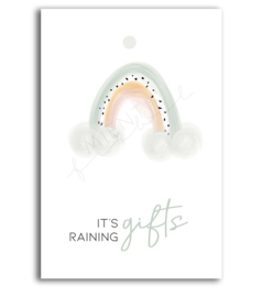 "Cadeaukaartje ""It's raining gifts"""