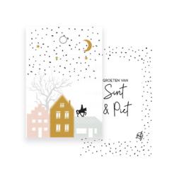 """Cadeaukaartje """"Sint Daken/van Sint & Piet"""""""
