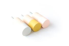 Wandhaken Dippies  - Peach Pink/Misty Mustard/Gentle Green (lichtgrijs)