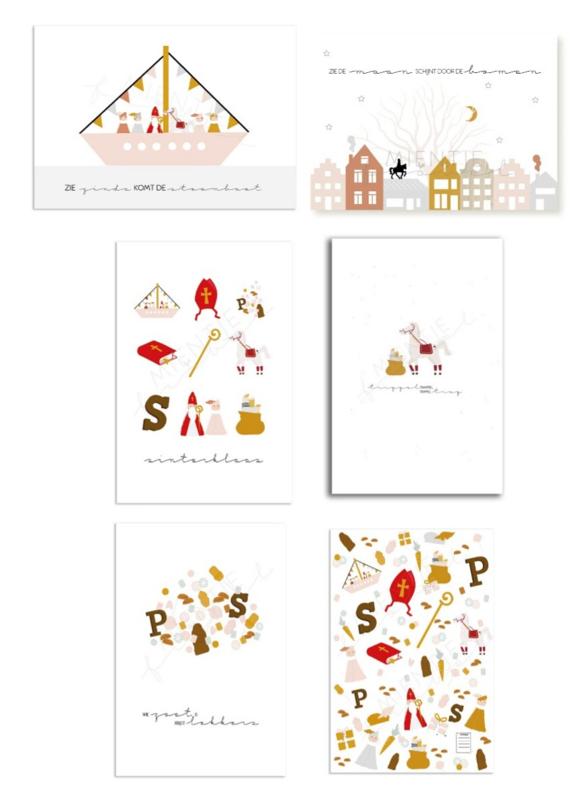 Set van 5 Sinterklaaskaarten