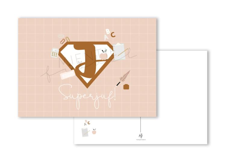Ansichtkaart Superjuf A6