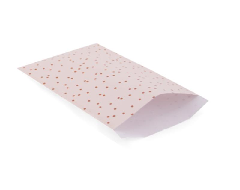 Papieren zakjes Pink Dots - per 5 stuks