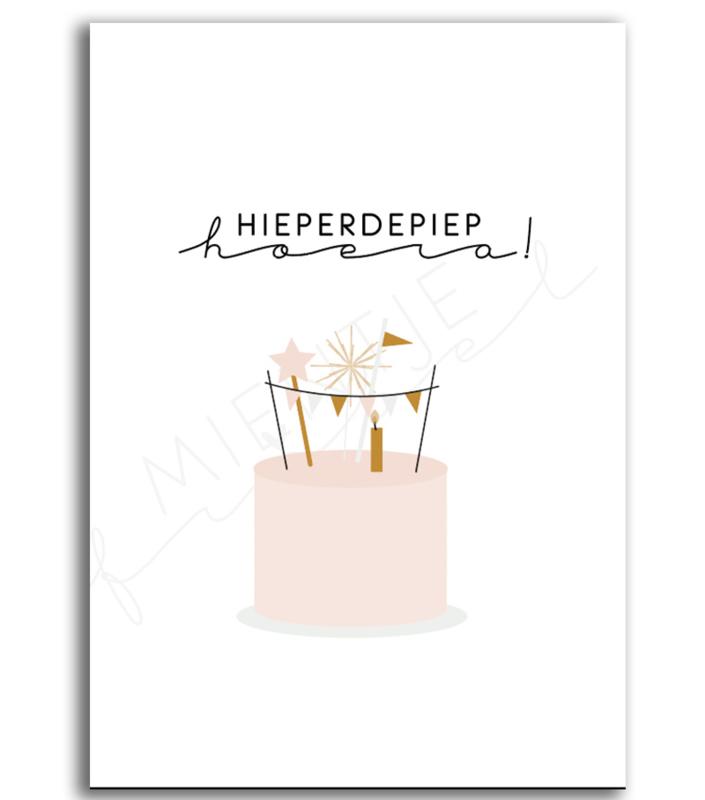 Poster verjaardag / Aftelkalender verjaardag   Roze