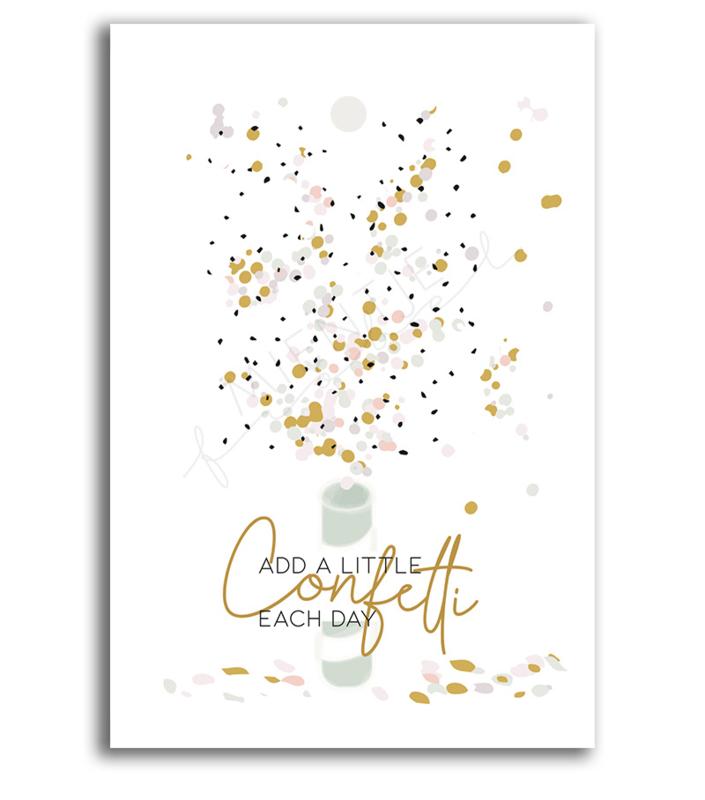 "Cadeaukaartje ""Add a little confetti each day"""