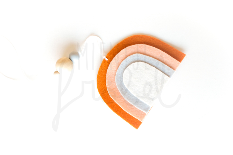 Vilthanger regenboog Kerrie/Peach/Grijs/White