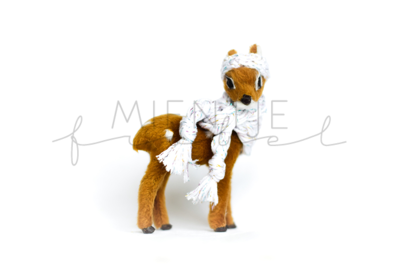 Deer Brown | White Glitter