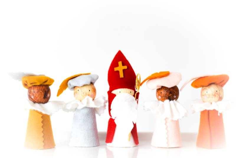 Sinterklaasfiguren blank/schmink