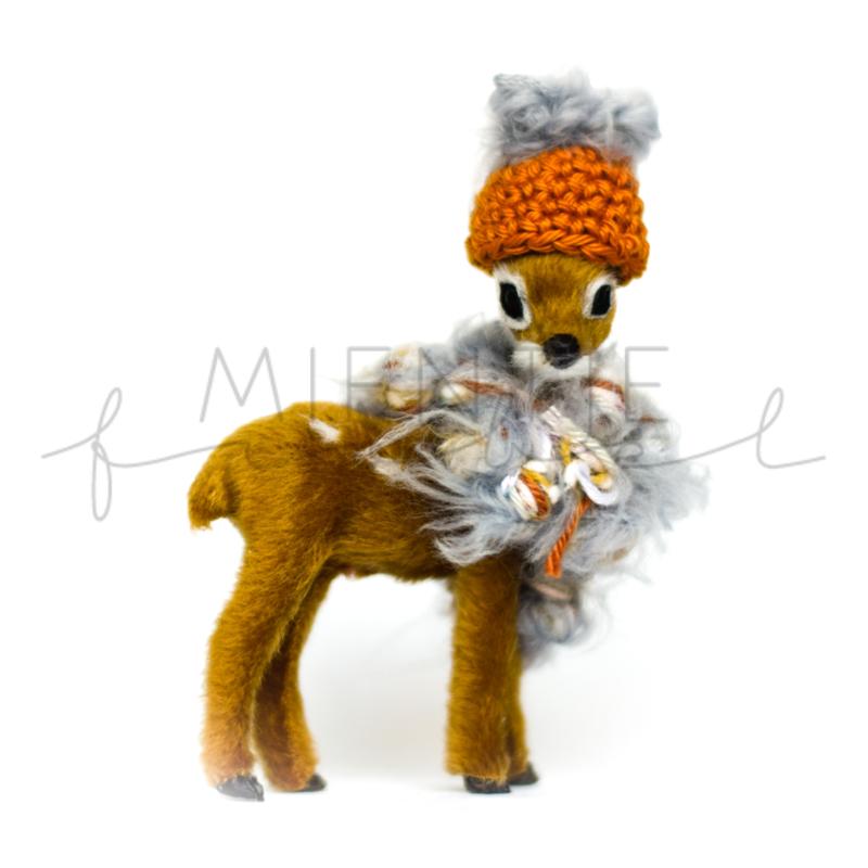 Bambi Bruin Roest/Grijs Fluffy