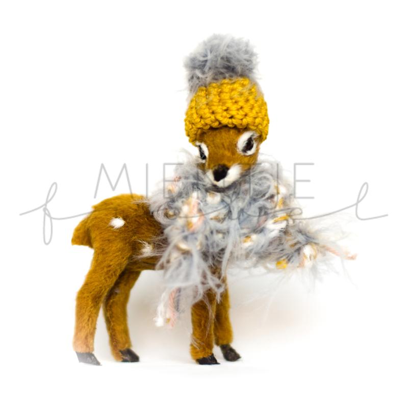 Bambi Grijs Oker/Grijs/Fluffy