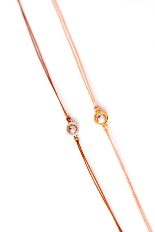Armbandje Swarovski zilver/goudkleur