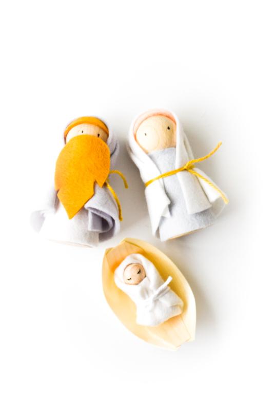 Mini set kerstfiguren