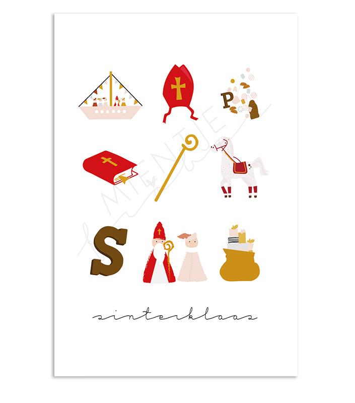 """Ansichtkaart Sinterklaas """"Sinterklaas"""""""