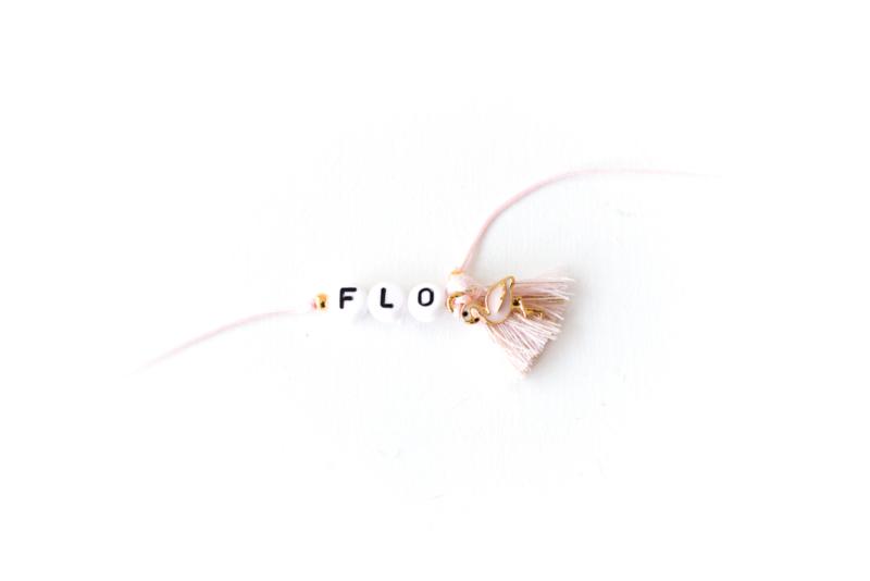 """Naamarmbandje Flamingo luxe """"FLO"""" ONE SIZE"""