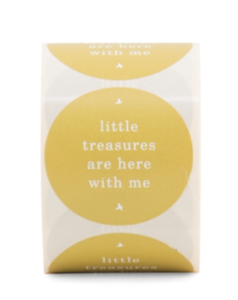 Stickers 'Little Treasures are here with me' - per 5 stuks