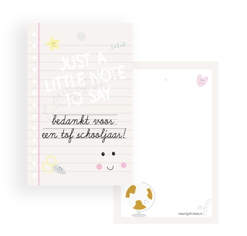 "Bedankkaartje Stationary ""Just a little note"""