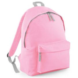 schooltas licht roze met naam