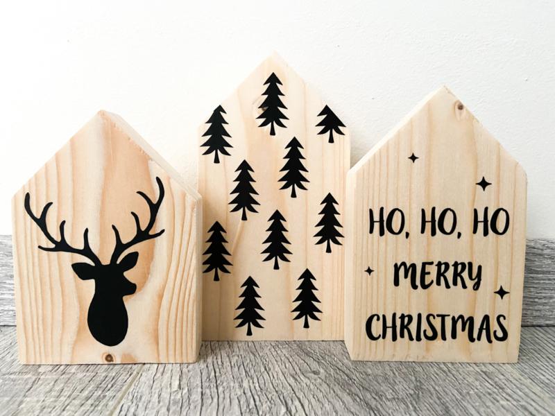Houten huisjes Kerst 1