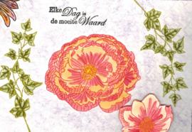 Floral Mix - A5 clear stempel set 15 x 20 cm
