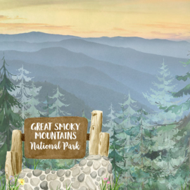 Great Smoky Mountains National Park / Tennessee - scrapbook customs - 12x12 inch