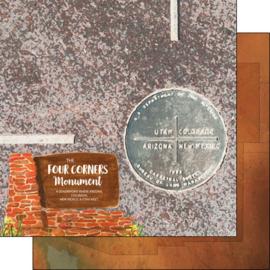 Four Corners Monument - dubbelzijdig 12x12 scrapbookpapier