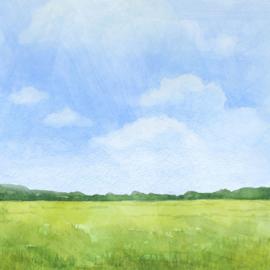 Koe / Cow -  watercolor - 30.5x30.5 cm - scrapbookpapier