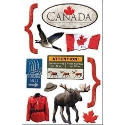 Scrapbook decoratie Canada - 3d stickers