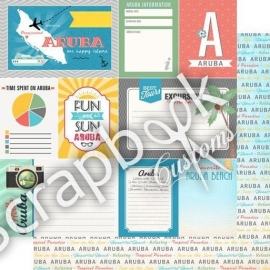 Aruba journal tags - scrappapier - Scrapbook customs 12 x 12 inch