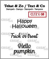 Crealies Tekst & Zo clear stamp - Halloween (UK)