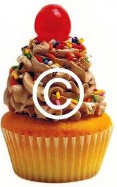 Cupcake - stans decoratie - 5.5x9 cm
