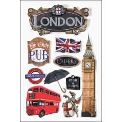 london stickers 3d
