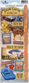 Paper House Scrapbook Stickers - Grand Canyon national park est 1919 - sticky pix