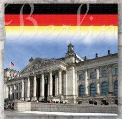 Berlijn Reichstag scrappapier 30.5 x30.5 cm