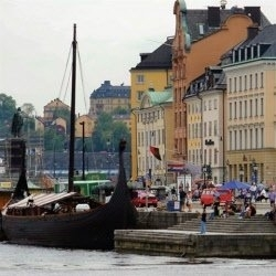 Zweden Stockholm Havenkade scrapbook papier