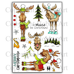 Kerst stempels - It Moose be Christmas! clear stamps