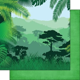Groene Vallei papier 30.5 x 30.5 cm